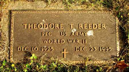 REEDER, THEODORE T. - Franklin County, Ohio | THEODORE T. REEDER - Ohio Gravestone Photos