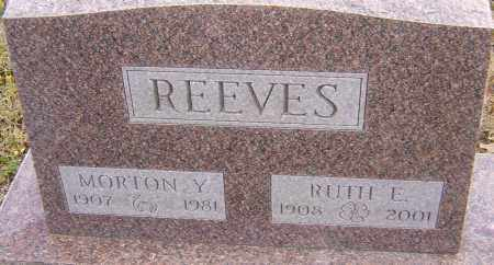 REEVES, MORTON - Franklin County, Ohio | MORTON REEVES - Ohio Gravestone Photos