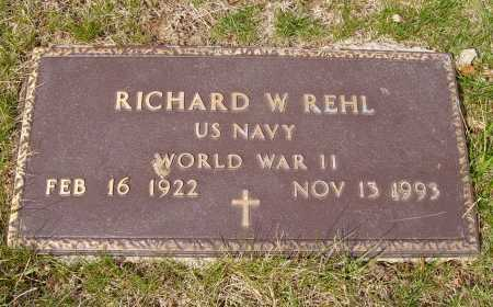 REHL, RICHARD W. - Franklin County, Ohio | RICHARD W. REHL - Ohio Gravestone Photos