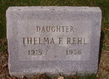 REHL, THELMA - Franklin County, Ohio | THELMA REHL - Ohio Gravestone Photos