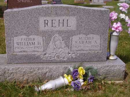 REHL, SARAH A. - Franklin County, Ohio | SARAH A. REHL - Ohio Gravestone Photos