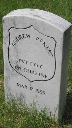 RENERT, ANDREW - Franklin County, Ohio | ANDREW RENERT - Ohio Gravestone Photos