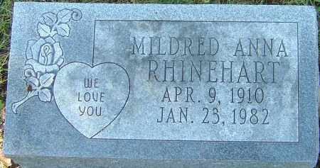 RHINEHART, MILDRED ANNA - Franklin County, Ohio | MILDRED ANNA RHINEHART - Ohio Gravestone Photos