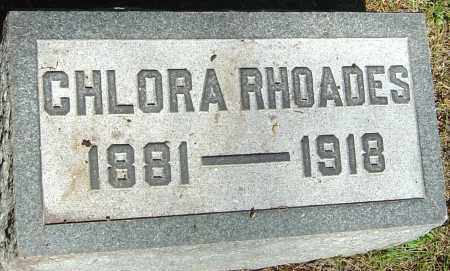 RHOADES, CHLORA - Franklin County, Ohio | CHLORA RHOADES - Ohio Gravestone Photos