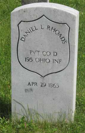 RHOADS, DANIEL L. - Franklin County, Ohio | DANIEL L. RHOADS - Ohio Gravestone Photos