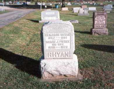 PIERCE RHYAN, SARAH J. - Franklin County, Ohio | SARAH J. PIERCE RHYAN - Ohio Gravestone Photos