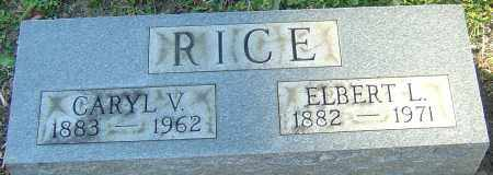 RICE, ELBERT L - Franklin County, Ohio | ELBERT L RICE - Ohio Gravestone Photos