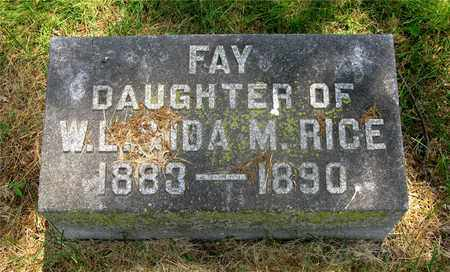 RICE, FAY - Franklin County, Ohio | FAY RICE - Ohio Gravestone Photos