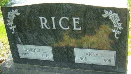 RICE, ANNA E - Franklin County, Ohio | ANNA E RICE - Ohio Gravestone Photos