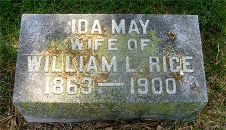 RICE, IDA MAY - Franklin County, Ohio | IDA MAY RICE - Ohio Gravestone Photos