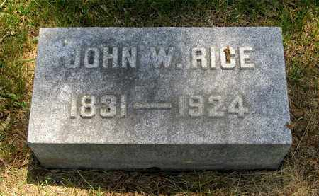 RICE, JOHN W. - Franklin County, Ohio | JOHN W. RICE - Ohio Gravestone Photos