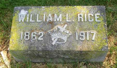 RICE, WILLIAM L. - Franklin County, Ohio | WILLIAM L. RICE - Ohio Gravestone Photos