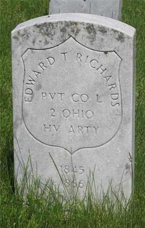 RICHARDS, EDWARD T. - Franklin County, Ohio | EDWARD T. RICHARDS - Ohio Gravestone Photos