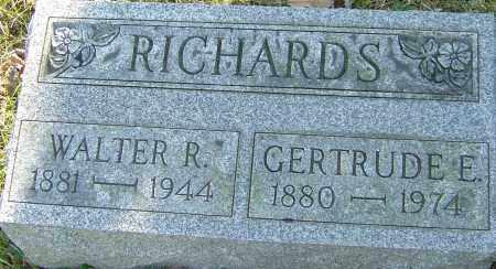 RICHARDS, WALTER R - Franklin County, Ohio | WALTER R RICHARDS - Ohio Gravestone Photos