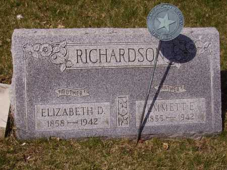ANCHOR RICHARDSON, ELIZABETH D. - Franklin County, Ohio | ELIZABETH D. ANCHOR RICHARDSON - Ohio Gravestone Photos