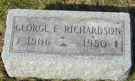 RICHARDSON, GEORGE F - Franklin County, Ohio | GEORGE F RICHARDSON - Ohio Gravestone Photos