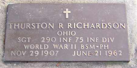 R RICHARDSON, THURSTON - Franklin County, Ohio | THURSTON R RICHARDSON - Ohio Gravestone Photos