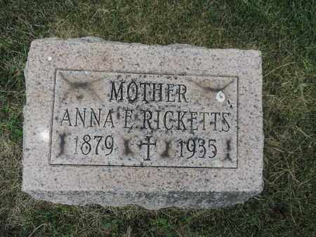 RICKETTS, ANNA E. - Franklin County, Ohio | ANNA E. RICKETTS - Ohio Gravestone Photos