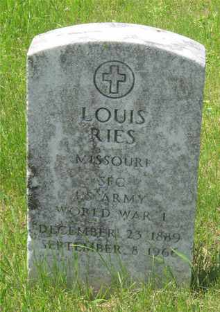 RIES, LOUIS - Franklin County, Ohio | LOUIS RIES - Ohio Gravestone Photos