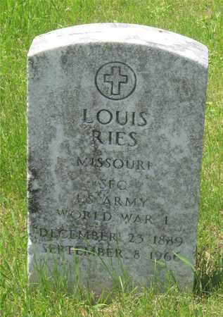 RIES, LOUIS - Franklin County, Ohio | LOUIS RIES - Ohio Gravestone Photos