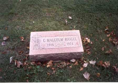 RIGGLE, C. MALCOLM - Franklin County, Ohio | C. MALCOLM RIGGLE - Ohio Gravestone Photos