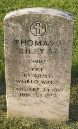 RILEY, THOMAS J. - Franklin County, Ohio | THOMAS J. RILEY - Ohio Gravestone Photos