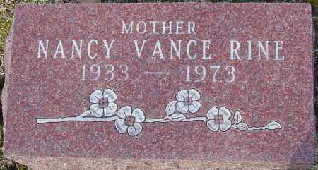 VANCE RINE, NANCY - Franklin County, Ohio | NANCY VANCE RINE - Ohio Gravestone Photos