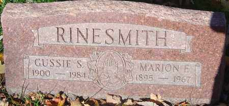 RINESMITH, MARION F - Franklin County, Ohio | MARION F RINESMITH - Ohio Gravestone Photos