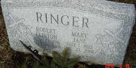 RINGER, MARY JANE - Franklin County, Ohio | MARY JANE RINGER - Ohio Gravestone Photos