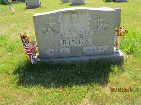 RINGS, BLANCHE M - Franklin County, Ohio | BLANCHE M RINGS - Ohio Gravestone Photos
