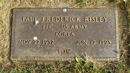 RISLEY, PAUL FREDERICK - Franklin County, Ohio | PAUL FREDERICK RISLEY - Ohio Gravestone Photos
