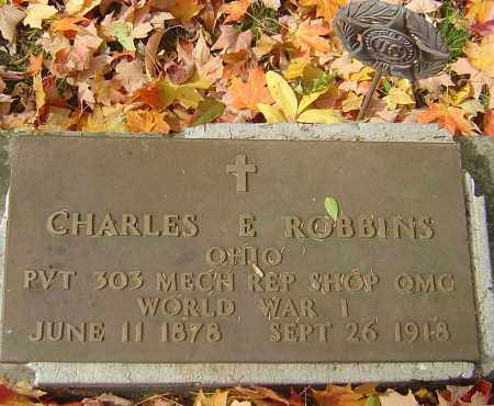 ROBBINS, CHARLES E - Franklin County, Ohio | CHARLES E ROBBINS - Ohio Gravestone Photos
