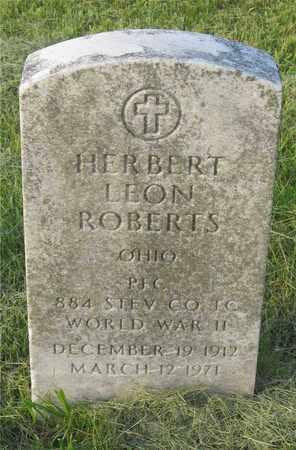 ROBERTS, HERBERT LEON - Franklin County, Ohio | HERBERT LEON ROBERTS - Ohio Gravestone Photos