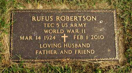 ROBERTSON, RUFUS - Franklin County, Ohio | RUFUS ROBERTSON - Ohio Gravestone Photos