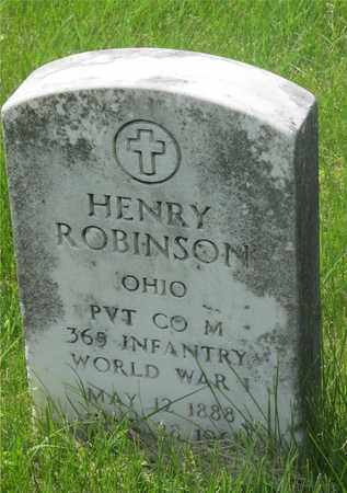 ROBINSON, HENRY - Franklin County, Ohio | HENRY ROBINSON - Ohio Gravestone Photos