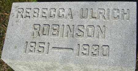 ROBINSON, REBECCA - Franklin County, Ohio | REBECCA ROBINSON - Ohio Gravestone Photos