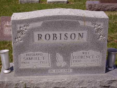 ROBISON, FLORENCE O. - Franklin County, Ohio | FLORENCE O. ROBISON - Ohio Gravestone Photos