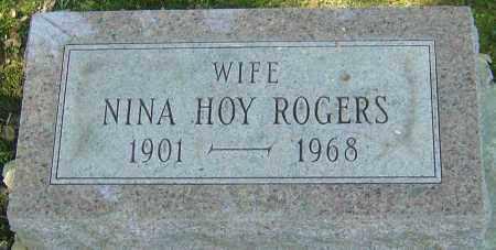 HOY ROGERS, NINA - Franklin County, Ohio | NINA HOY ROGERS - Ohio Gravestone Photos