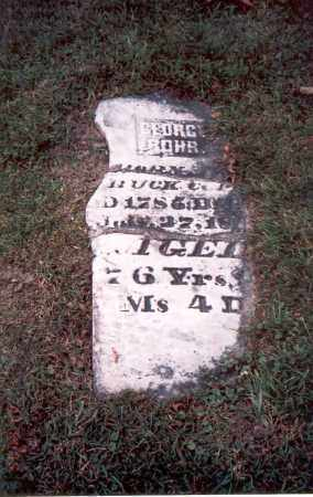 ROHR, GEORGE - Franklin County, Ohio | GEORGE ROHR - Ohio Gravestone Photos