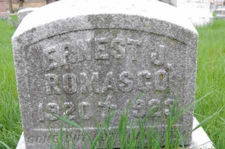 ROMASCO, ERNEST J. - Franklin County, Ohio | ERNEST J. ROMASCO - Ohio Gravestone Photos