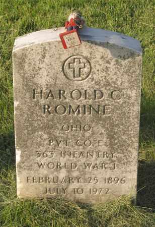 ROMINE, HAROLD C. - Franklin County, Ohio | HAROLD C. ROMINE - Ohio Gravestone Photos