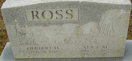 ROSS, ALICE M - Franklin County, Ohio | ALICE M ROSS - Ohio Gravestone Photos