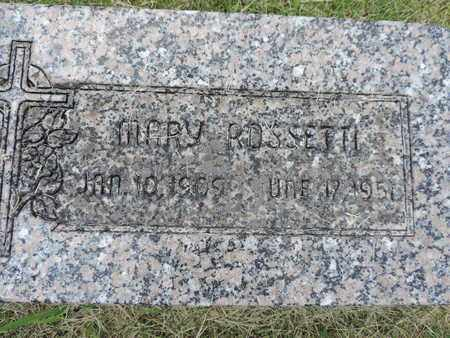 ROSSETTI, MARY - Franklin County, Ohio | MARY ROSSETTI - Ohio Gravestone Photos