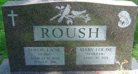 ROUSH, EDWIN LANE - Franklin County, Ohio | EDWIN LANE ROUSH - Ohio Gravestone Photos