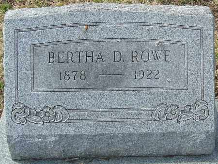 ROWE, BERTHA D - Franklin County, Ohio | BERTHA D ROWE - Ohio Gravestone Photos