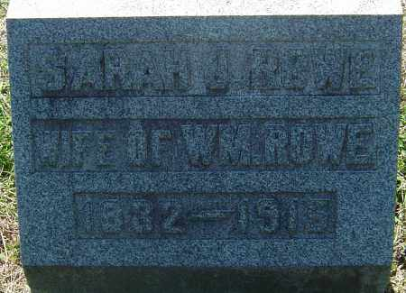 HOUGHTON ROWE, SARAH JANE - Franklin County, Ohio | SARAH JANE HOUGHTON ROWE - Ohio Gravestone Photos