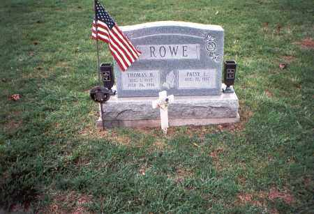 ROWE, THOMAS HOBERT. - Franklin County, Ohio | THOMAS HOBERT. ROWE - Ohio Gravestone Photos