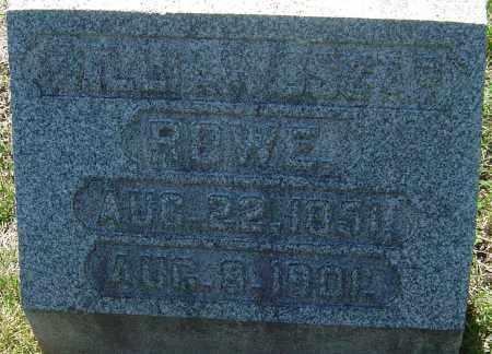 ROWE, WILLIAM OSCAR - Franklin County, Ohio | WILLIAM OSCAR ROWE - Ohio Gravestone Photos