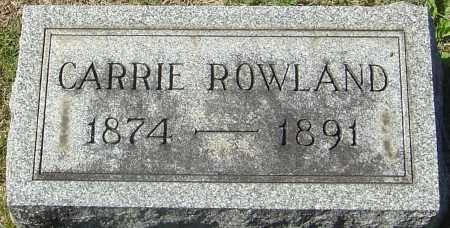 ROWLAND, CARRIE - Franklin County, Ohio | CARRIE ROWLAND - Ohio Gravestone Photos