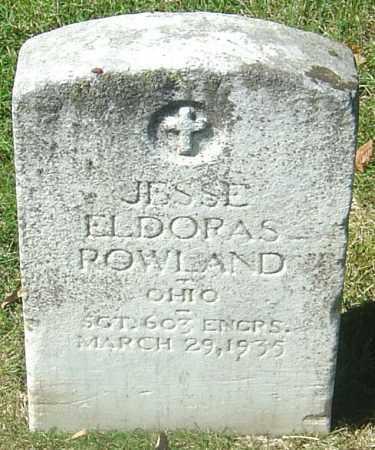 ROWLAND, JESSE ELDORAS - Franklin County, Ohio | JESSE ELDORAS ROWLAND - Ohio Gravestone Photos